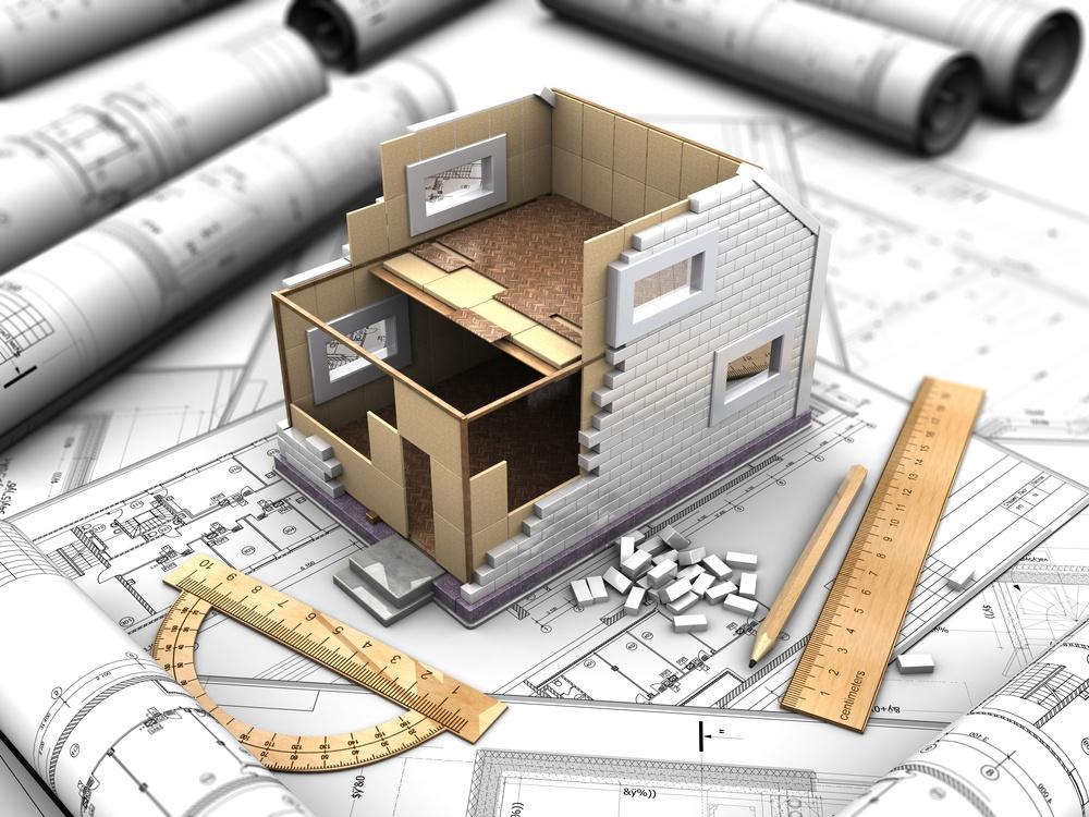 House plan model, home design phase