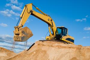 Land preparation for building a house