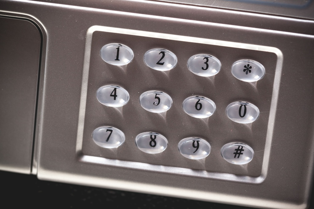 Gun safe keypad