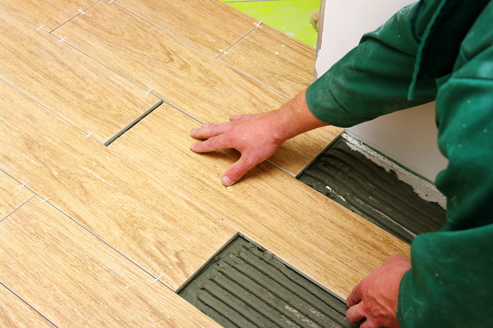installing wood look floor